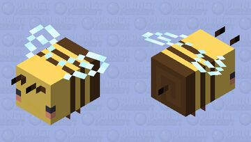 cute bee Minecraft Mob Skin