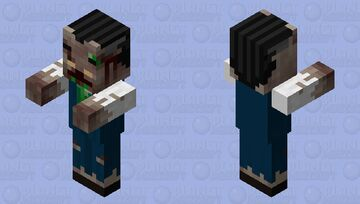 Zombie Villager in Halloween Villager Clothing Minecraft Mob Skin