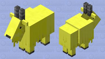 dyed goat-yellow Minecraft Mob Skin