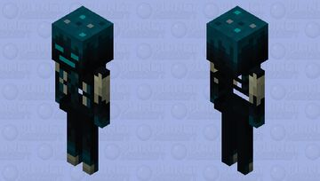 Sculk skeleton Minecraft Mob Skin