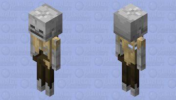 Skeleton husk without hat Minecraft Mob Skin