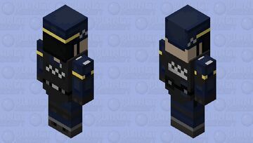 Riot Police Vindicator Skin Minecraft Mob Skin