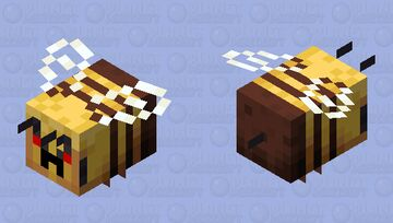 Angry bee Minecraft Mob Skin