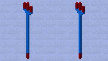 Crimson and blue trident Minecraft Mob Skin