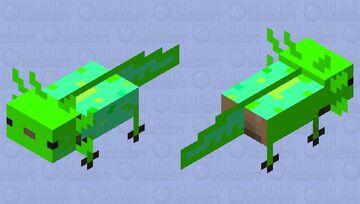 greeny axolotl Minecraft Mob Skin