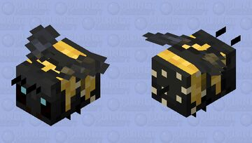 Pollinating Bumblebee Minecraft Mob Skin