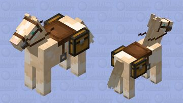 Golden/ Champagne Pinto Horse Minecraft Mob Skin