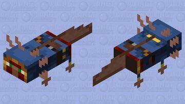 Wandering Sea Villager /Sea Villager (Blue Variant) Minecraft Mob Skin