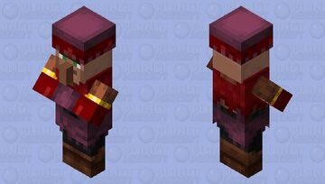 Villager / remade / re-texturing / from the crimson forest / for Minecraft plus Minecraft Mob Skin