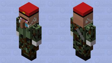 Villager(Female)(Soldier Outfit)(Facemask On) Minecraft Mob Skin