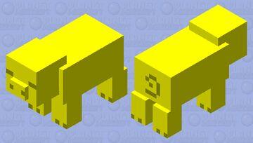 Golden Pig Minecraft Mob Skin