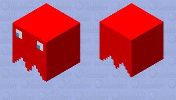 Red Pac-Man Ghost 2.o Minecraft Mob Skin