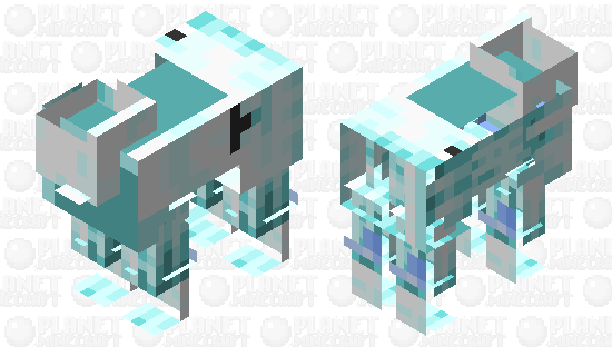 Ice Goat (Sorry, this is for the goat model. not sheep!) Minecraft Skin