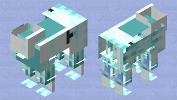 Ice Goat (Sorry, this is for the goat model. not sheep!) Minecraft Mob Skin