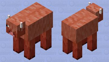 Red Wooly Cow Minecraft Mob Skin