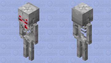 Red Spell Skeleton Minecraft Mob Skin