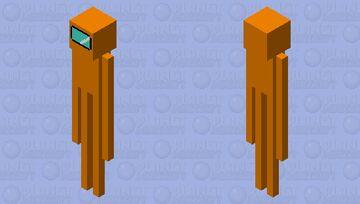 Orange sus enderman Minecraft Mob Skin