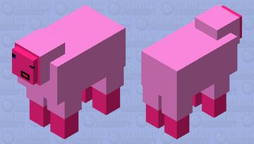 cotton candy sheep Minecraft Mob Skin