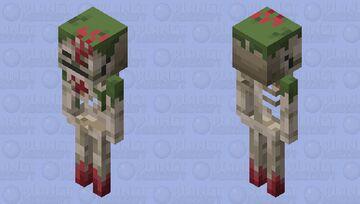 Armored Sunken Skeleton Minecraft Dungeons Variant1 Minecraft Mob Skin
