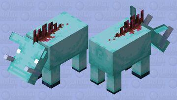 Ice Hoglin Minecraft Mob Skin