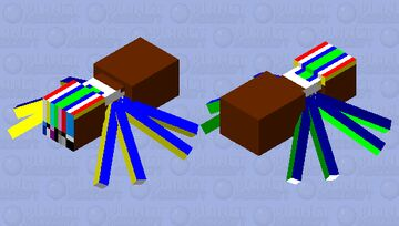 Disgusting TV Spider Minecraft Mob Skin