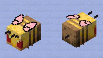 Soft butterfly bee but mad Minecraft Mob Skin