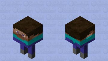 Block Steve with arms and legs Minecraft Mob Skin