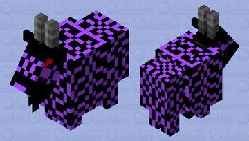 Corrupt goat Minecraft Mob Skin