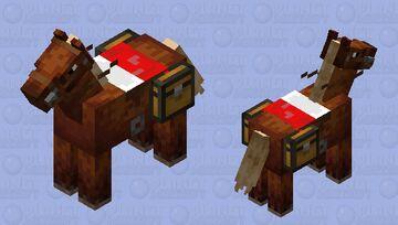 bed saddled horse Minecraft Mob Skin