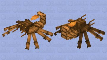 Scorpion from AheeCraft (a model edit) Minecraft Mob Skin