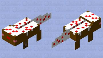 Chocolate Cake Axolotl Minecraft Mob Skin