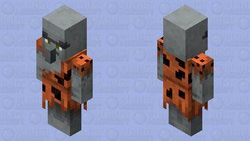 Geomancer Illager (Caveman)(Re Texturing) Minecraft Mob Skin