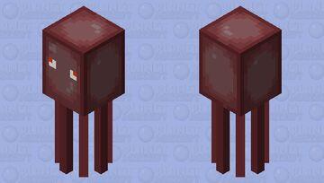 Hot 'N Spicy Bean Squid Minecraft Mob Skin