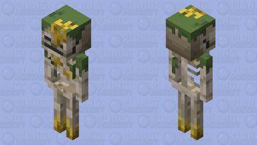 Armored Sunken Skeleton Minecraft Dungeons Variant2 Minecraft Mob Skin