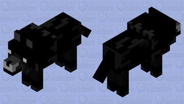 Black Wolf Minecraft Mob Skin