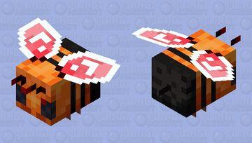 Magma bee Minecraft Mob Skin