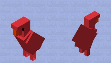 Elmo Parrot because why not Minecraft Mob Skin