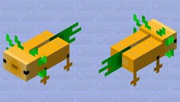 carrot axolotl Minecraft Mob Skin