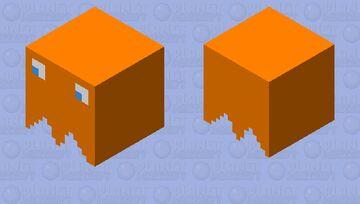 Orange Pac-Man Ghost Minecraft Mob Skin
