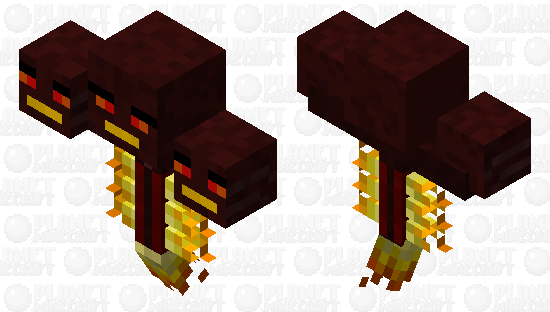 Fire Wither Minecraft Skin