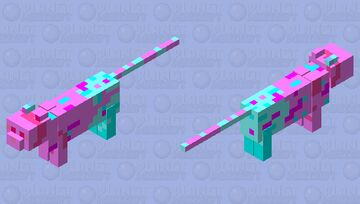 The Abstract cat mob skin for event Minecraft Mob Skin