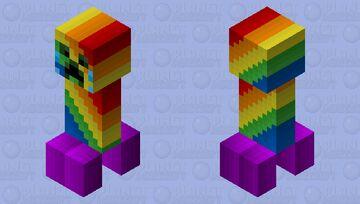 Crying Rainbow Creeper (Remade) Minecraft Mob Skin
