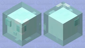 Ice slime (preparation for biome swap) Minecraft Mob Skin