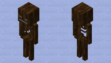 Wooden Skeleton Minecraft Mob Skin
