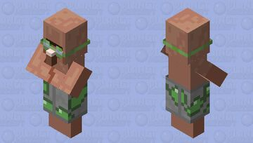 Pool Party Villager Minecraft Mob Skin