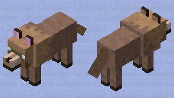Brown dog Minecraft Mob Skin