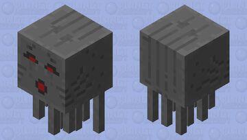 Dark mode ghast (charge) Minecraft Mob Skin