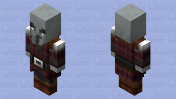 Pillagers re-texturing / level 2 / iron Minecraft Mob Skin