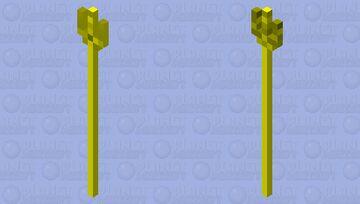 Poseidon Golden trident Minecraft Mob Skin