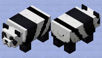 mad panda + extra stripe Minecraft Mob Skin
